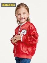 Balabala Girls Jacket Autumn Windbreaker For Teenage Girl Outerwear Children Coats Kids School Clothes Teens Tops Sportswear(China)