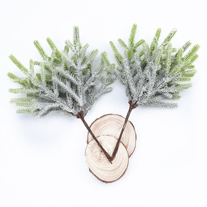 Image 3 - 6pcs artificial plants fake pine vases christmas decorations for home wedding diy gifts box wreath scrapbooking plastic flowers