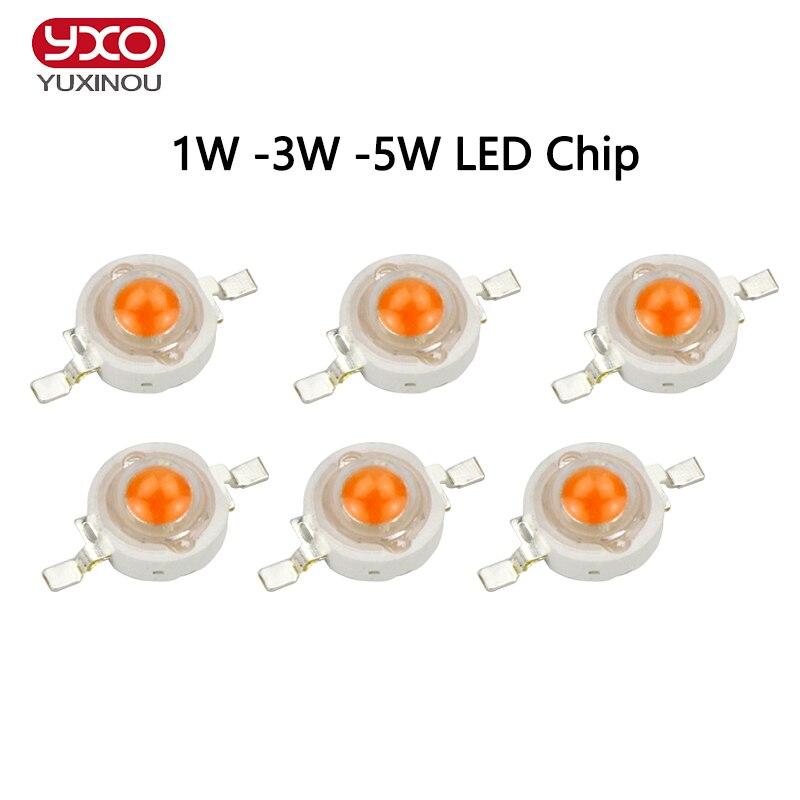 100 unids/lote 1 W 3 W 5 W espectro completo llevado crece la viruta ligera, mejor LED bridgelux crece la viruta para la planta de interior crece