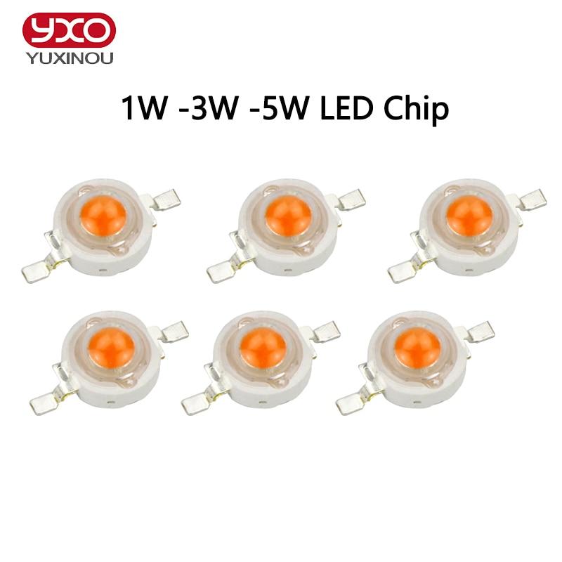 100pcs/lot 1w 3w 5w full spectrum led grow light chip , best bridgelux led grow chip for indoor plant grow