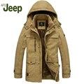 AFS JEEP men2016 casuais Os novos homens jaqueta de inverno longo-de mangas compridas jaqueta de algodão quente dos homens confortáveis de algodão-jaqueta acolchoada 228