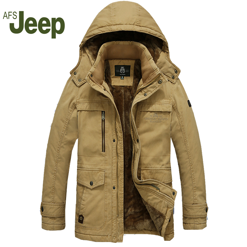AFS JEEP winter jacket men2016 The new men's casual long-sleeved warm cotton jacket comfortable men's cotton-padded jacket 228