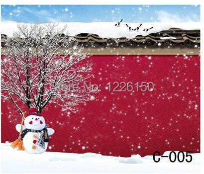 Free digital  winter vinyl Backdrops, children christmas photography C-005,10x10ft Wedding Photo Backdrops retro background christmas photo props photography screen backdrops for children vinyl 7x5ft or 5x3ft christmas033