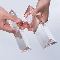 K9 cor Triangular prisma de Vidro Óptico Triangular Prisma Ângulo Direito Refletindo Para O Ensino de Espectro de Luz