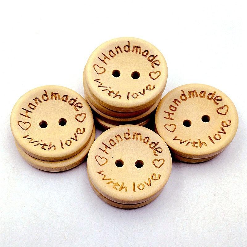 EG/_ 50pcs Emoji Expression Pattern Wooden Button DIY Sewing Scrapbooking Craft W