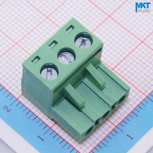 10 шт. 3 P 5,08 мм Шаг прямоугольный женский PCB электрическое перекрученное плетение клеммный блок соединитель образец