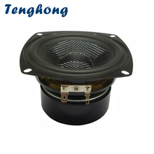 Tenghong 1pcs 4Inch Bass Speaker 4/8Ohm 30W Fiberglass Woven Basin Waterproof Speaker Unit Lawn Bathroom Bluetooth Loudspeaker