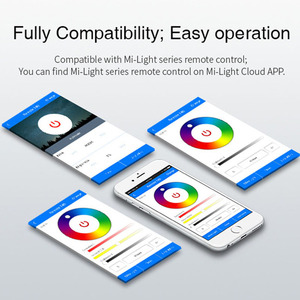 Image 5 - Milight YT1 WiFi Voice Afstandsbediening DC5V USB Smart 4G IOS Android APP Controller voor 2.4 GHz RGB CCT RGBW LED Strip Lamp