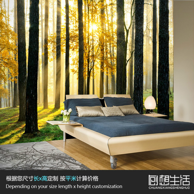 mural natuurlijke bos boom scenic mural slaapkamer woonkamer 3d wallpaper gepersonaliseerde tv achtergrond 3d foto behang