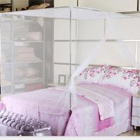 1 قطعة جديدة بيضاء أربعة ركن بوست طالب سرير الستارة ناموسية شبكية التوأم الملكة الملك الحجم