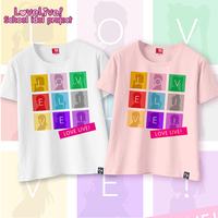 New Anime Manga LOVE LIVE School Idol Project Cosplay T Shirt Mesh Tee SY002