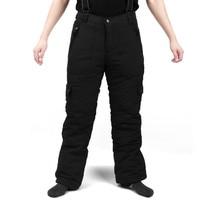 2018 New Cheap Skiing Pants Waterproof Windproof Double Board Skiing Pants Warm Men Skiing Pants Male Mountain Skiing Trouser