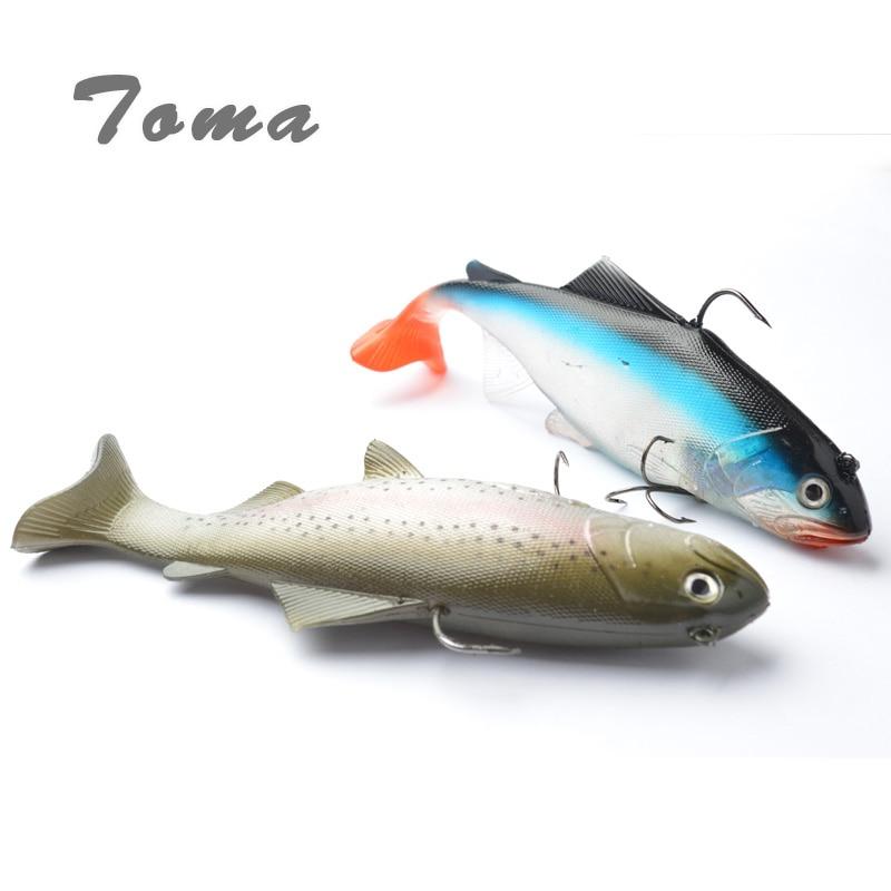 130g 20cm lifelike fishing lures swimbait deep sea soft for Deep sea fishing lures