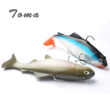 TOMA 130g 20cm Lifelike Fishing Lures Swimbait Deep Sea Soft Lead Big Fish Bass Bait Isca Artificial Lures Fishing Tackle