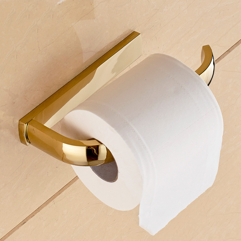 Paper Holder 5 Colors Solid Brass Wall Mount Toilet Paper Holder Bathroom  Accessories WC Roll Holder Home Improvement F81351 in Paper Holders from  Home. Paper Holder 5 Colors Solid Brass Wall Mount Toilet Paper Holder