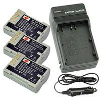 Dste 3ピースPS-BLM5 BLM-5充電式バッテリー+旅行や車の充電器オリンパスC-8080 C-7070 c-e1 e500 e330 e3 e520 e510