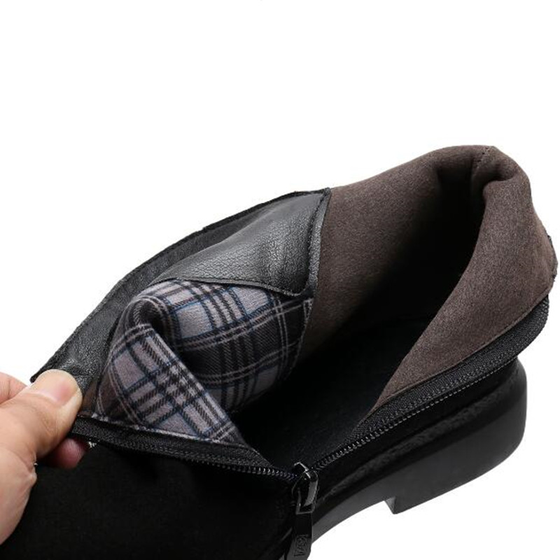 Cuir Chaussures Casual Mat Cheville Zxryxgs Mode Single 001 winter Marque 002 Plat Nouveau Plus single Boots 002 Réel Peau Vache Velours Taille 2018 winter De Bottes En 001 1ulFKcT5J3