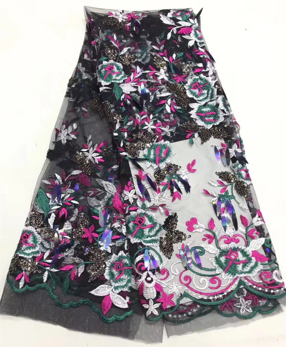 Wholesale embroidery sequins lace fabric, African lace fabric quality Nigerian lace fabricWholesale embroidery sequins lace fabric, African lace fabric quality Nigerian lace fabric