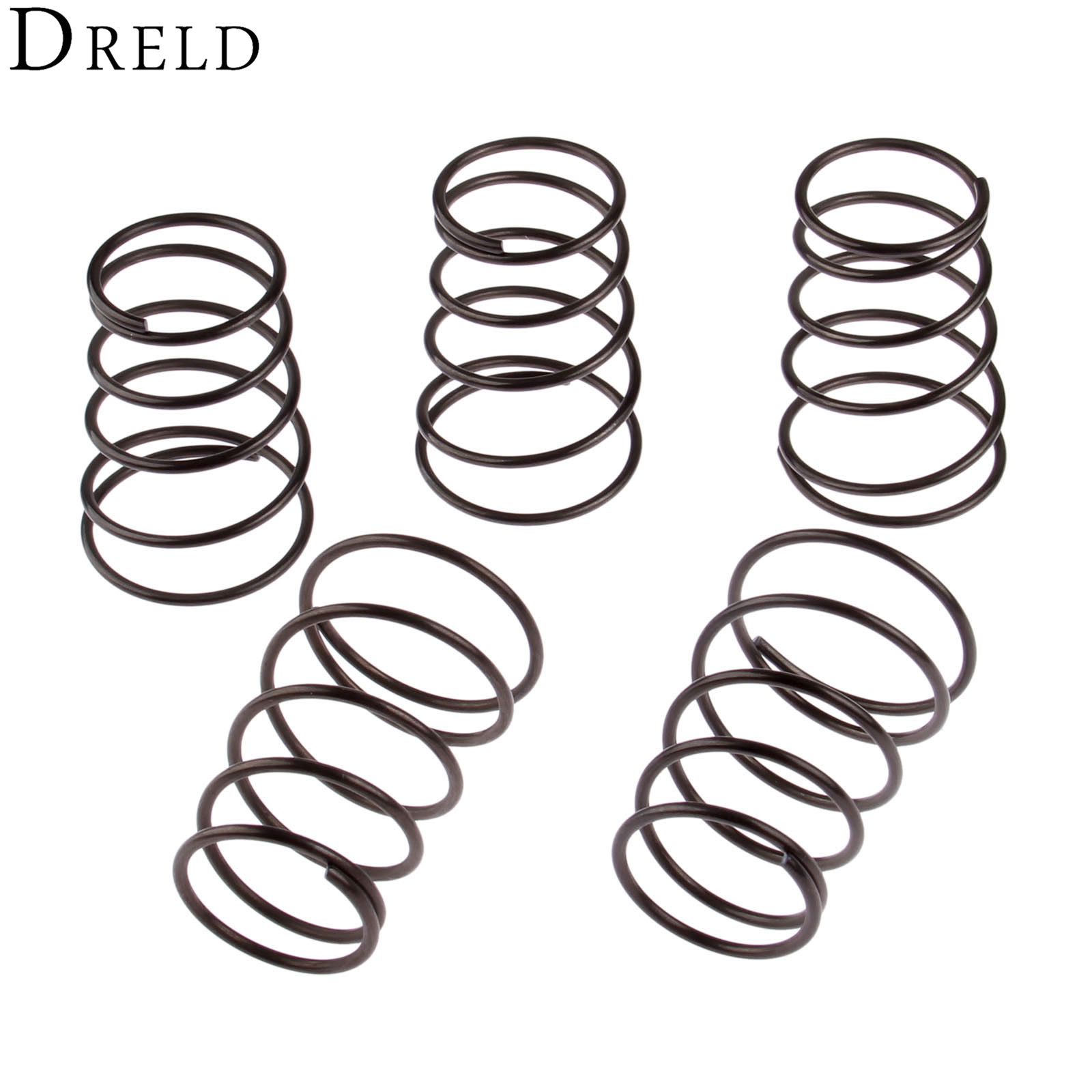 DRELD 5Pcs Universal Nylon Trimmer Head Spring Garden Lawn Mower Tool Parts Bump Spring Steel for Garden Tools Parts Replacement dreld 125 80mm nylon bump feed line grass trimmer strimmer head garden accessories supplies for lawn mower garden tool parts