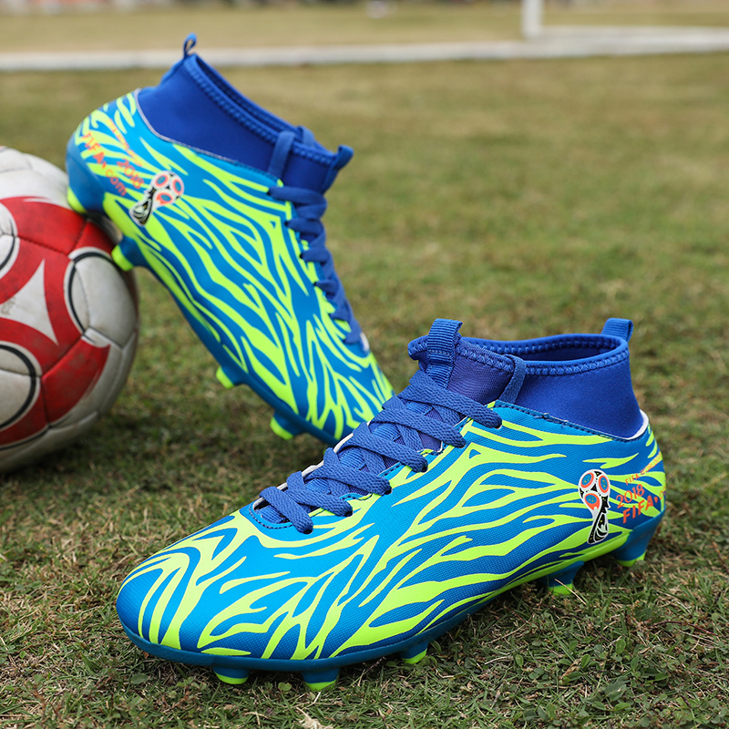Soccer Shoes for Boys High Ankle Football Boots Men Women Soccer Boots Outdoor Artificial Grass Athletics Spike Shoes Soccer