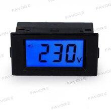 цена на AC80-500V Panel voltage Meter with cover Volt meter LCD display blue backlight Digital tester