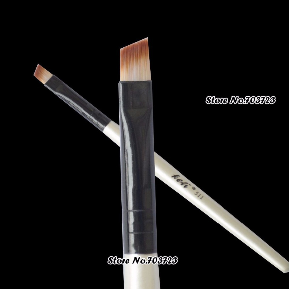 1/2 Piece New Fashion Professional Elite Angled Eyebrow Brush Nice Handle Eye Liner Brow Makeup Tool Hot Sale best price mgehr1212 2 slot cutter external grooving tool holder turning tool no insert hot sale brand new