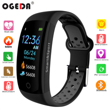 OGEDA Fitness Luxury Smart Watch IP68 Waterproof Sport for Android / IOS heart rate monitor Blood pressure Pedometer smart watch ogeda f6 smart women watch sports smartwatch watch ip68 sleep monitor remote camera wearable devices for ios android new 2018