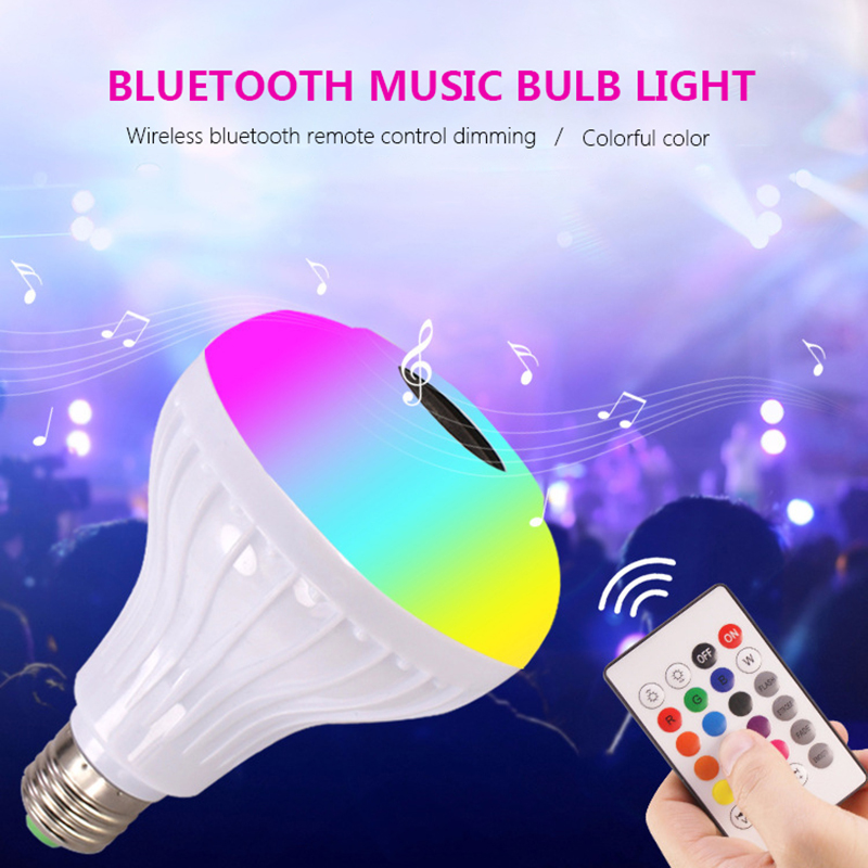 12 Altavoz Bluetooth W De Oreab Inalámbrico Inteligente Led Rgb Bombilla La Lámpara Del Dimmable K1JFc3Tl