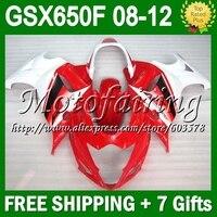 7 подарки для SUZUKI GSX650F 08 09 красный белый 10 11 12 GSX 650F GSX650 F GSXF650 # 325 2008 2009 2010 зализа красный