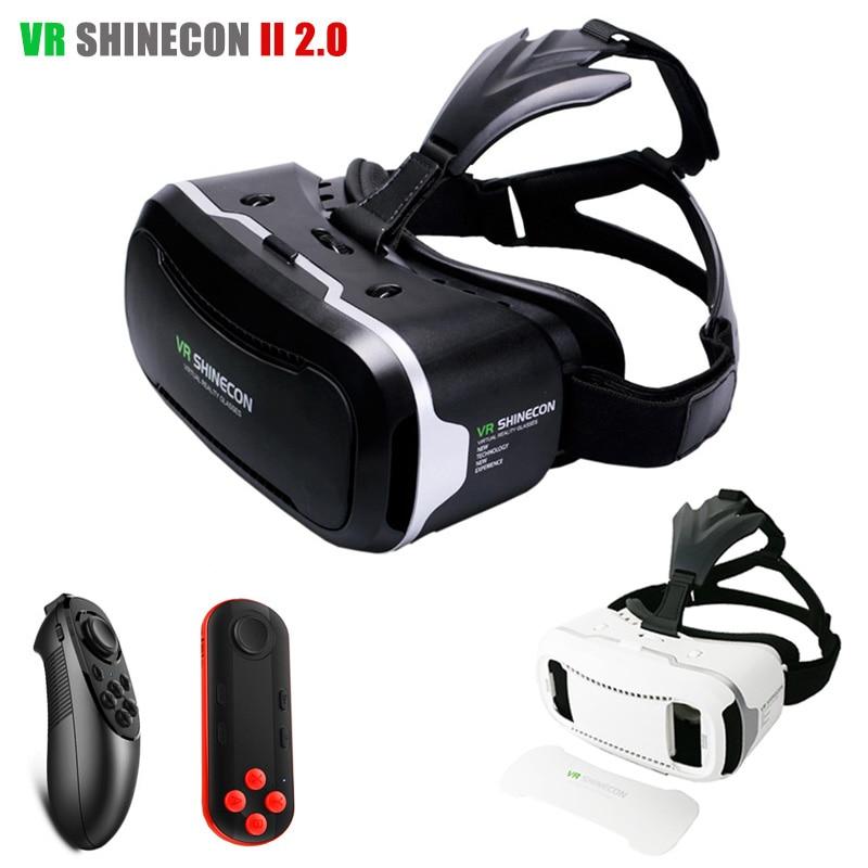 Original Shinecon <font><b>VR</b></font> <font><b>2.0</b></font> 3D <font><b>Glasses</b></font> Virtual Reality Google <font><b>Glass</b></font> <font><b>Head</b></font> <font><b>Mount</b></font> Headset vrbox for 4.7-6' Mobile + <font><b>Bluetooth</b></font> <font><b>Remote</b></font>