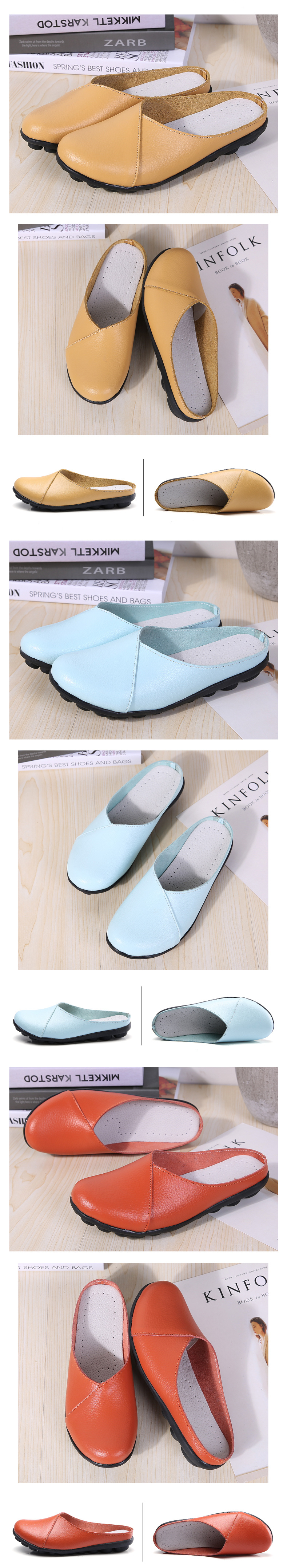 AARDIMI Summer Women Slippers Genuine Leather Women Slides Women Flat Shoes Genuine Leather Solid Female Flip Flops