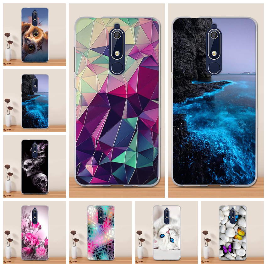 <font><b>Case</b></font> For <font><b>Nokia</b></font> <font><b>5.1</b></font> <font><b>Case</b></font> Cover Silicone 3D TPU Soft <font><b>Phone</b></font> <font><b>Case</b></font> for Nokia5.1 <font><b>Nokia</b></font> 5 .1 Funda Coque for <font><b>Nokia</b></font> <font><b>5.1</b></font> Cover Capa Shell image