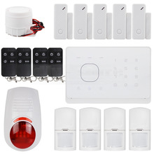 DIYSECUR APP Controlled Wireless GSM Autodial Home Security Alarm System + Wireless Flash Siren + RFID