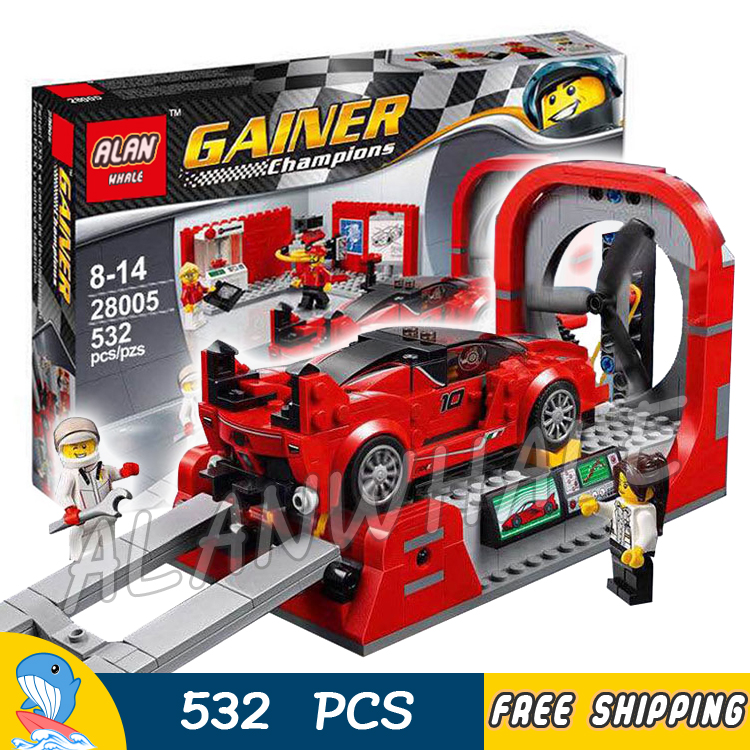 532pcs New Speed Champions 28005 FXX K & Development Model Building Blocks Cars Viechle Bricks Gifts Toys Compatible With Lego breakfast for champions