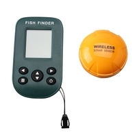 Wireless Dot Matrix Sonar Fish Finder with Waterproof Visible Sunshine LCD Display Max 80m depth & Fish Size & Water Temp Show