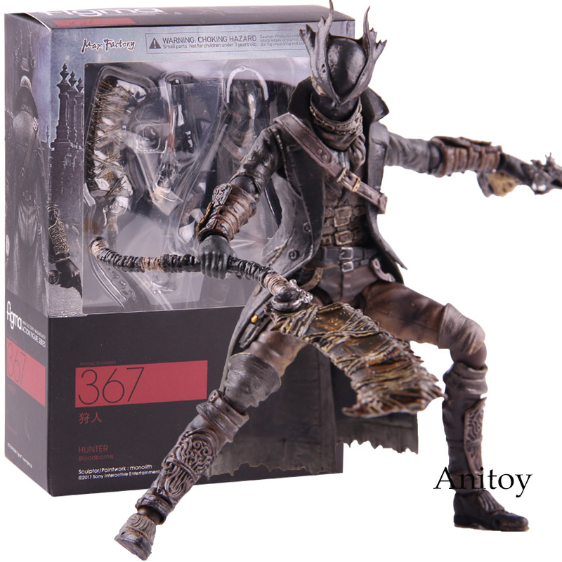 Figma 367 Bloodborne Hunter Figures of Games PVC Figma Action Figure Collectible Model Toy