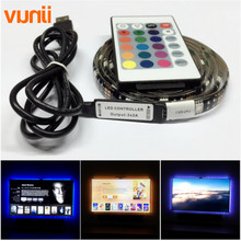 New DC5V USB LED strip 5050 RGB Flexible Light 1M 2M TV Background Lighting RGB LED