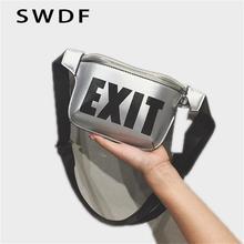 купить SWDF 2019 Waist Bag Female Belt New Brand Fashion Waterproof Chest Handbag Unisex Fanny Pack Ladies Waist Pack Belly Bags Purse онлайн