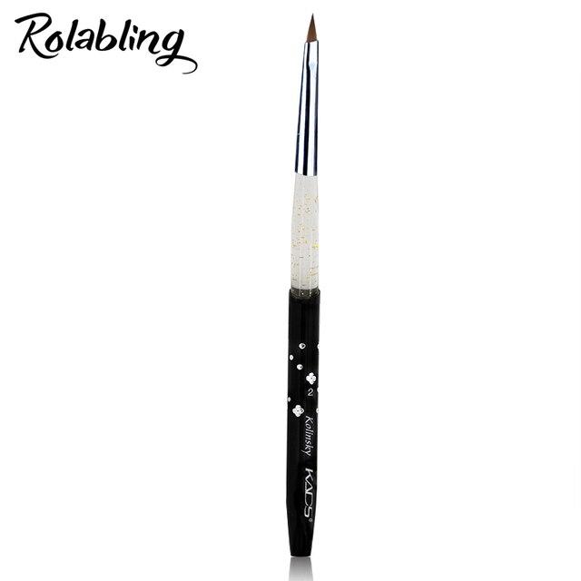 Rolabling 2# black Kolinsky Sable Brush Acrylic Nail Art Brush Pen ...