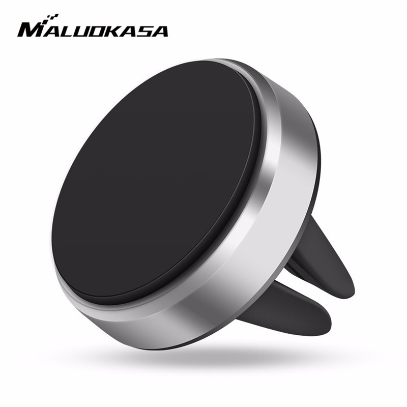 MALUOKASA Universal Car Holder For iPhone 6 7 Air Vent Mount Magnetic Car Phone Holder Stand For Samsung Huawei Auto GPS Bracket baseus car air vent mount phone holder for phones under 5 5inch black