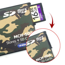 4in1 Ultrathin Memory Card Case Holder Portable Storage Box Case Protector 4 SD Card Mobil Phone