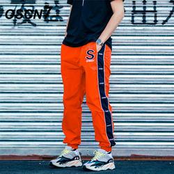 OSCN7 свободные полосы для отдыха пот Штаны Для мужчин 2019 уличной моды обычная, высокая, на выход в стиле пэчворк брюки мужские K177