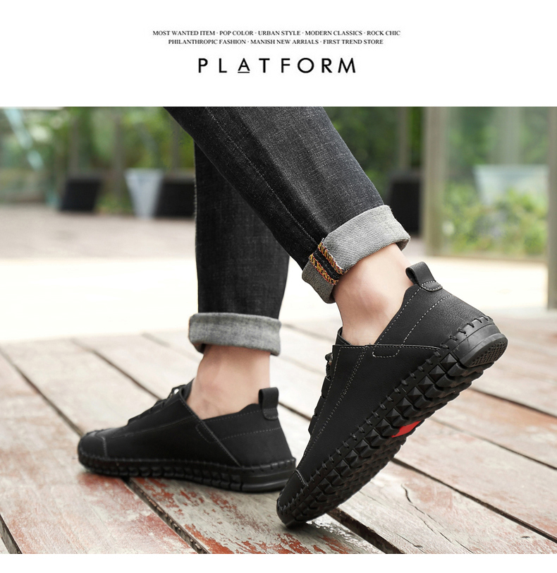 HTB1.StcayzxK1Rjy1zkq6yHrVXaV - 2019 New Fashion Leather Spring Casual Shoes Men's Shoes Handmade Vintage Loafers Men Flats Hot Sale Moccasins Sneakers Big Size