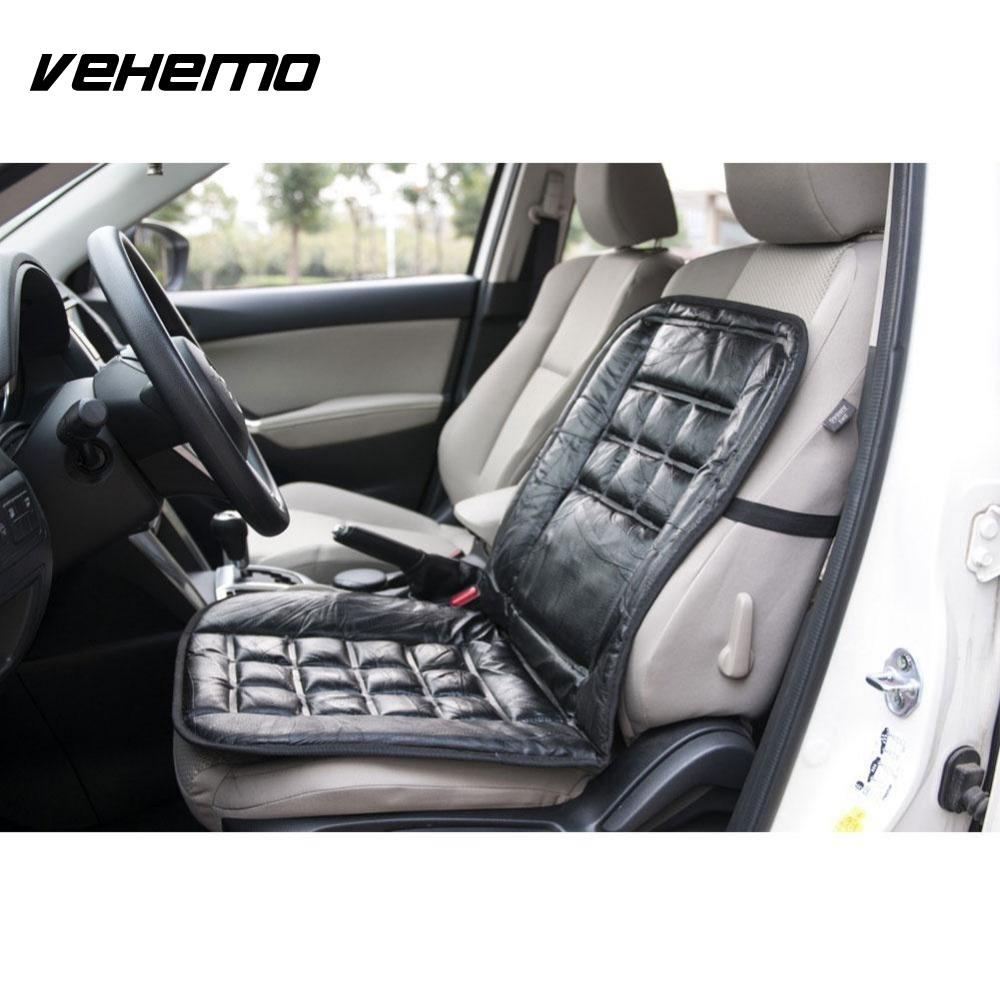 Vehemo 1 pc black car vehicle seat cover luxury genuine leather cushion protector car interior accessories