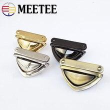 2/5pcs Meetee 3.5*5cm Metal Twist Turn Lock Snap Clasps Closure Buckle for Handbag Purse Bags Hardware Accessories Bag Locks