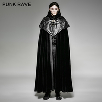 Панк рейв Готический стиль толстовка Кабо длинное пальто черный плащ длинное пальто y 693