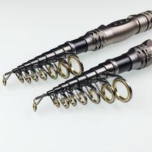Hot  99% Carbon 1.8M 2.1M 2.4M 2.7M 3.0M 3.3M Portable Telescopic Fishing Rod Spinning Fish Hand Fishing Tackle Sea Rod