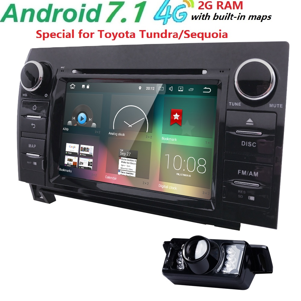 4gwifi quadcore android 7 1 2gb ram 32gb sd 16gb rom car dvd player for toyota tundra