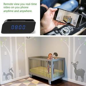 Image 2 - Mini horloge de caméra HD 4K WiFi horloge miroir intelligente avec Vision nocturne détection de mouvement IP horloge prise en charge Android/iOS vue de téléphone Vi