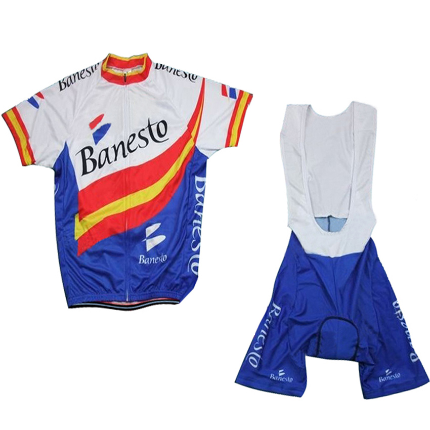3 Styles Banesto Pro Team Cycling Jersey Sets Summer Short Sleeve Men MTB Bicycle Wears 3D Gel Pad Bibs Shorts Bike Clothes Sets polyester summer breathable cycling jerseys pro team italia short sleeve bike clothing mtb ropa ciclismo bicycle maillot gel pad